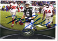 MARK SANCHEZ AUTOGRAPHED FOOTBALL CARD #112412F