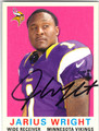JARIUS WRIGHT MINNESOTA VIKINGS AUTOGRAPHED FOOTBALL CARD #112413A