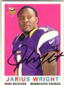 JARIUS WRIGHT MINNESOTA VIKINGS AUTOGRAPHED FOOTBALL CARD #112413A