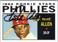 RICHIE ALLEN PHILADELPHIA PHILLIES AUTOGRAPHED BASEBALL CARD #112513B