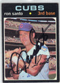 RON SANTO CHICAGO CUBS AUTOGRAPHED VINTAGE BASEBALL CARD #112513F