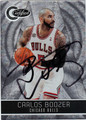 CARLOS BOOZER CHICAGO BULLS AUTOGRAPHED & NUMBERED BASKETBALL CARD #112412Q