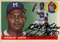 CHARLIE WHITE AUTOGRAPHED VINTAGE ROOKIE BASEBALL CARD #112512A