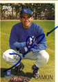 JOHNNY DAMON AUTOGRAPHED ROOKIE BASEBALL CARD #112611T