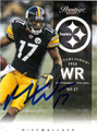 MIKE WALLACE AUTOGRAPHED FOOTBALL CARD #112612E
