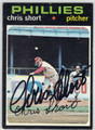 CHRIS SHORT PHILADELPHIA PHILLIES AUTOGRAPHED VINTAGE FOOTBALL CARD #112613E