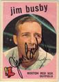 JIM BUSBY AUTOGRAPHED VINTAGE BASEBALL CARD #112611i