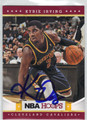 KYRIE IRVING CLEVELAND CAVALIERS AUTOGRAPHED ROOKIE BASKETBALL CARD #112713A