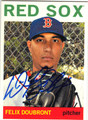 FELIX DOUBRONT BOSTON RED SOX AUTOGRAPHED BASEBALL CARD #112713L