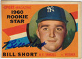 BILL SHORT AUTOGRAPHED VINTAGE ROOKIE BASEBALL CARD #112711J