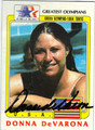 DONNA DeVARONA OLYMPIC SWIMMING AUTOGRAPHED VINTAGE CARD #112613A