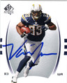 VINCENT JACKSON AUTOGRAPHED FOOTBALL CARD #112811B