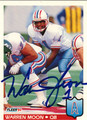 WARREN MOON AUTOGRAPHED FOOTBALL CARD #112711N