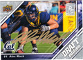 ALEX MACK AUTOGRAPHED ROOKIE FOOTBALL CARD #112811E