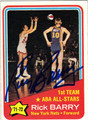 RICK BARRY AUTOGRAPHED VINTAGE BASKETBALL CARD #112712C