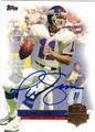 PHIL SIMMS AUTOGRAPHED FOOTBALL CARD #112812L