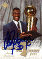DAVID ROBINSON AUTOGRAPHED BASKETBALL CARD #112812M
