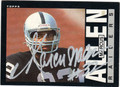 MARCUS ALLEN LOS ANGELES RAIDERS AUTOGRAPHED VINTAGE FOOTBALL CARD #112813K