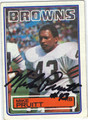 MIKE PRUITT AUTOGRAPHED VINTAGE FOOTBALL CARD #112911F