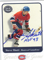 STEVE SHUTT AUTOGRAPHED HOCKEY CARD #112912E