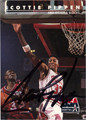 SCOTTIE PIPPEN AUTOGRAPHED BASKETBALL CARD #112912F