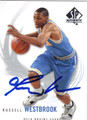 RUSSELL WESTBROOK UCLA BRUINS AUTOGRAPHED BASKETBALL CARD #112913B