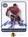 MICHEL GOULET AUTOGRAPHED HOCKEY CARD #113012E