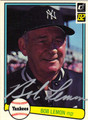 BOB LEMON AUTOGRAPHED BASEBALL CARD #11312F