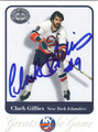 CLARK GILLIES AUTOGRAPHED HOCKEY CARD #113012H