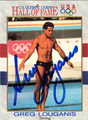 GREG LOUGANIS AUTOGRAPHED OLYMPIC CARD #11411F
