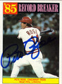 PETE ROSE AUTOGRAPHED BASEBALL CARD #11412C