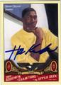 HAKEEM OLAJUWON HOUSTON ROCKETS AUTOGRAPHED BASKETBALL CARD #11312N