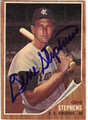 GENE STEPHENS KANSAS CITY ATHLETICS AUTOGRAPHED VINTAGE BASEBALL CARD #113013A