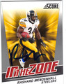 RASHARD MENDENHALL PITTSBURGH STEELERS AUTOGRAPHED FOOTBALL CARD #11313A