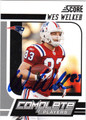 WES WELKER NEW ENGLAND PATRIOTS AUTOGRAPHED FOOTBALL CARD #11413S