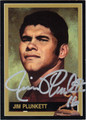 JIM PLUNKETT AUTOGRAPHED FOOTBALL CARD #11612B