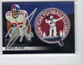 BRANDON JACOBS AUTOGRAPHED PIECE OF THE GAME THROWBACK PATCH CARD #11612C