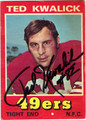 TED KWALICK AUTOGRAPHED VINTAGE FOOTBALL CARD #11512V