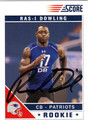 RAS-I DOWLING AUTOGRAPHED ROOKIE FOOTBALL CARD #11612H