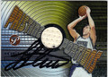 PEJA STOJAKOVIC SACRAMENTO KINGS AUTOGRAPHED PIECE OF THE GAME BASKETBALL CARD #11612N