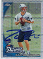 ZAC ROBINSON AUTOGRAPHED ROOKIE FOOTBALL CARD #11612T