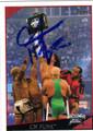 CM PUNK AUTOGRAPHED WRESTLING CARD #11712E