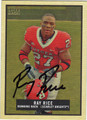 RAY RICE AUTOGRAPHED ROOKIE FOOTBALL CARD #11812P
