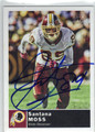 SANTANA MOSS WASHINGTON REDSKINS AUTOGRAPHED FOOTBALL CARD #11613M