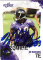 ED DICKSON AUTOGRAPHED ROOKIE FOOTBALL CARD #11712F