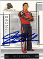 JEFF GORDON AUTOGRAPHED NASCAR CARD #11912C
