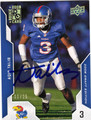 AQIB TALIB AUTOGRAPHED & NUMBERED ROOKIE FOOTBALL CARD #11912E
