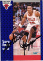 SCOTTIE PIPPEN AUTOGRAPHED BASKETBALL CARD #11812D