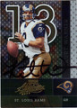 KURT WARNER AUTOGRAPHED FOOTBALL CARD #11812N