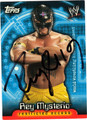 REY MYSTERIO AUTOGRAPHED WRESTLING CARD #120111K